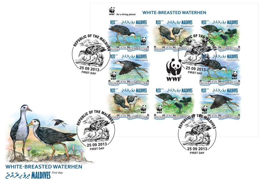 WWF - Birds. (2 sets) - Issue of Maldives postage stamps