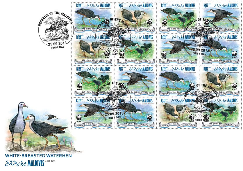 WWF - Birds. (4 sets) - Issue of Maldives postage stamps