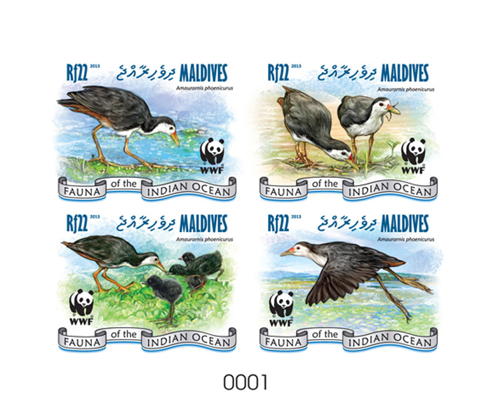 WWF – Birds - Issue of Maldives postage stamps