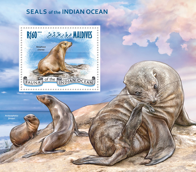 Seals - Issue of Maldives postage stamps
