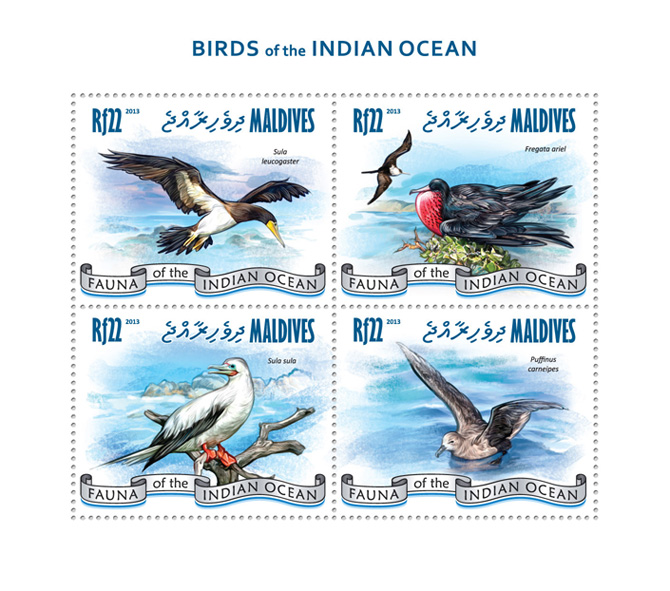 Birds - Issue of Maldives postage stamps