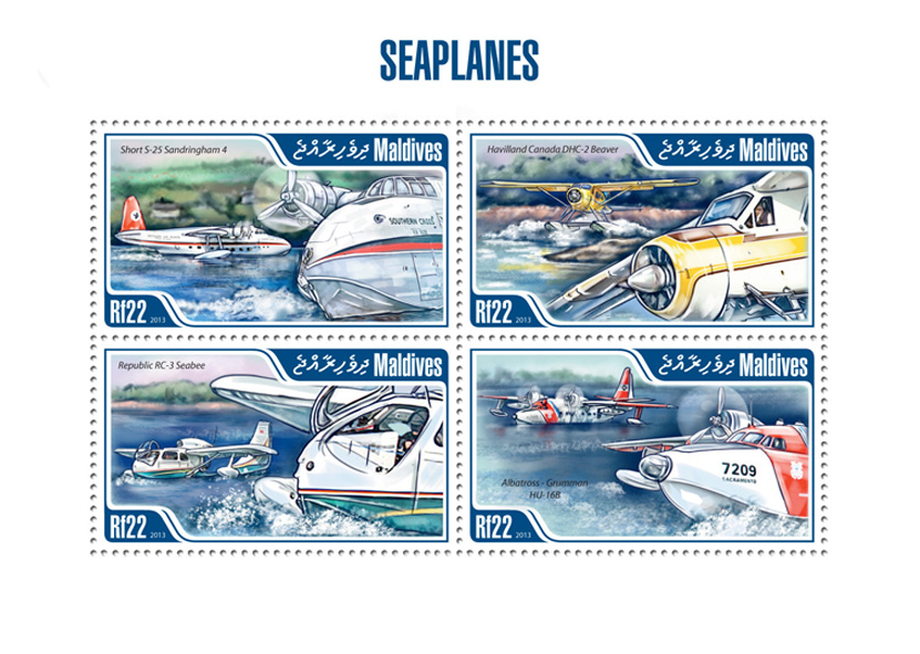 Planes - Issue of Maldives postage stamps