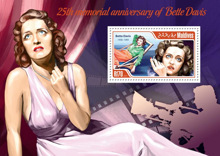 Bette Davis - Issue of Maldives postage stamps