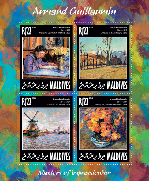 Armand Gaullamin - Issue of Maldives postage stamps