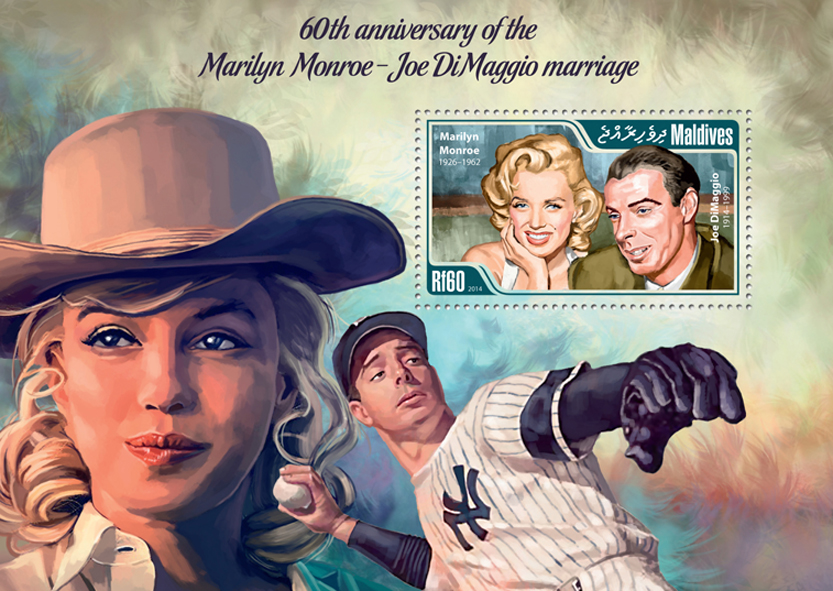 Marilyn Monroe – Joe DiMaggio - Issue of Maldives postage stamps