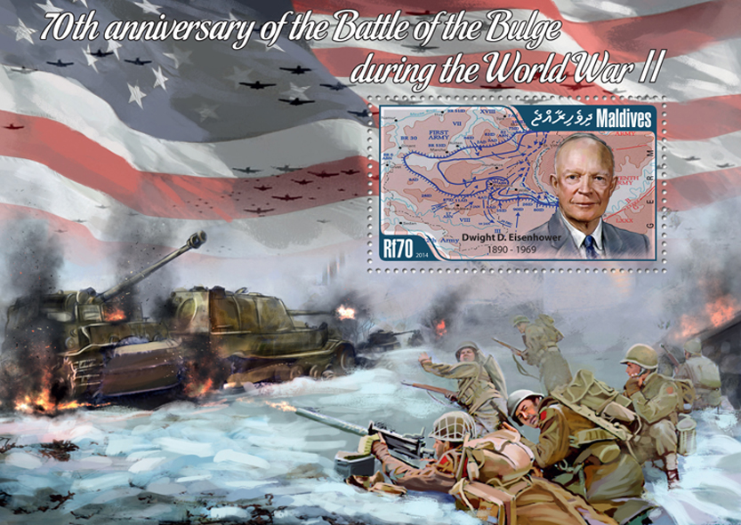 Battle of the Bulge - Issue of Maldives postage stamps
