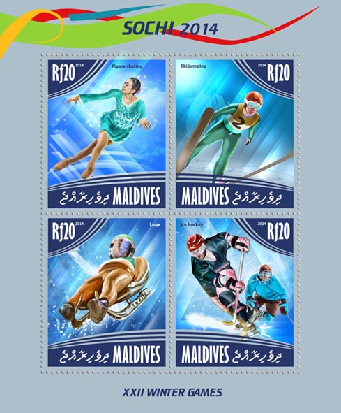 Sochi 2014 - Issue of Maldives postage stamps