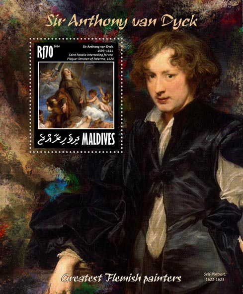 Anthony van Dyck - Issue of Maldives postage stamps