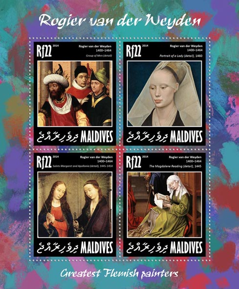 Rogier van der Weyden  - Issue of Maldives postage stamps
