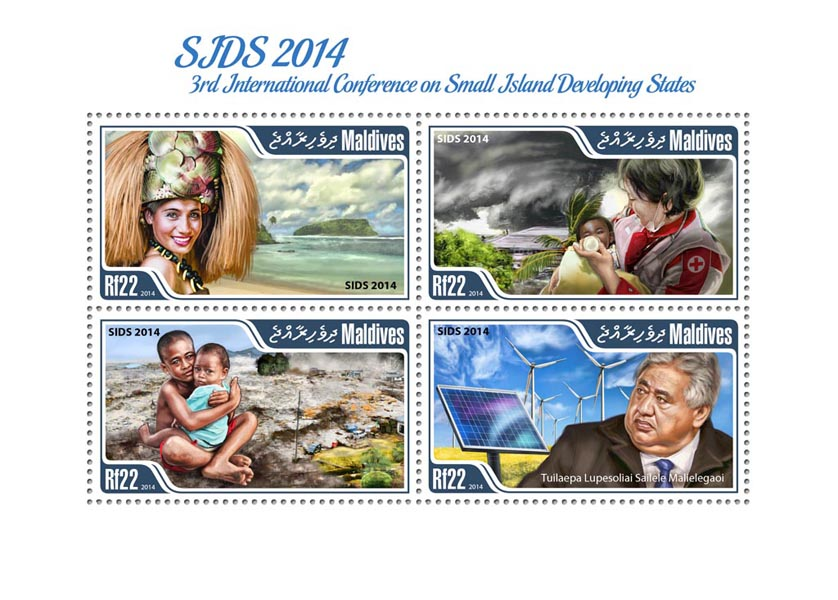 SIDS 2014 - Issue of Maldives postage stamps