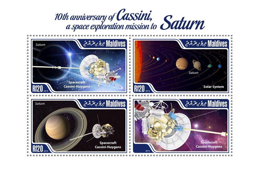 Cassini - Issue of Maldives postage stamps