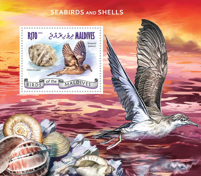 Seabirds and Shells - Issue of Maldives postage stamps