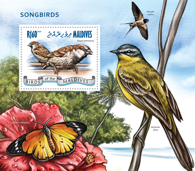 Songbirds - Issue of Maldives postage stamps