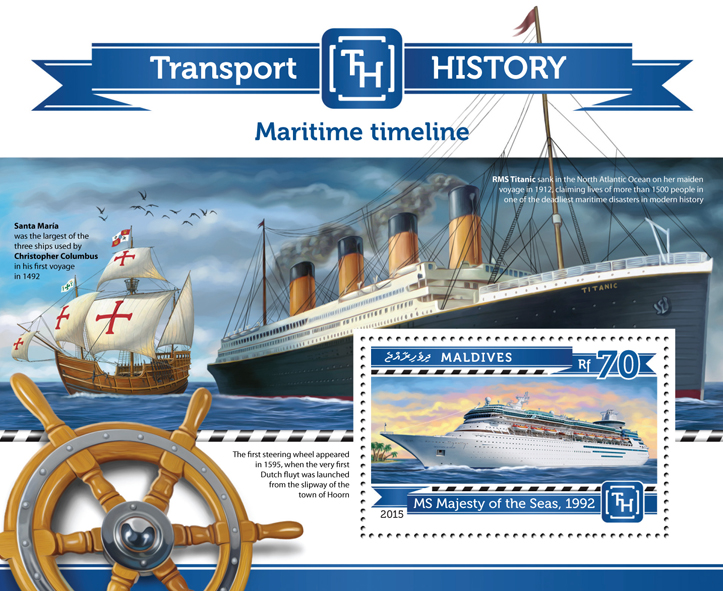 Maritime Timeline - Issue of Maldives postage stamps