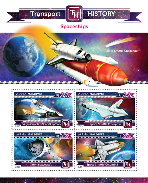 Spaceships - Issue of Maldives postage stamps