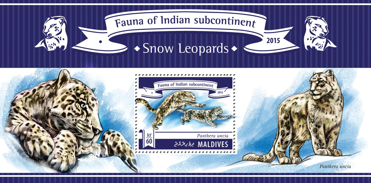 Snow Leopards - Issue of Maldives postage stamps