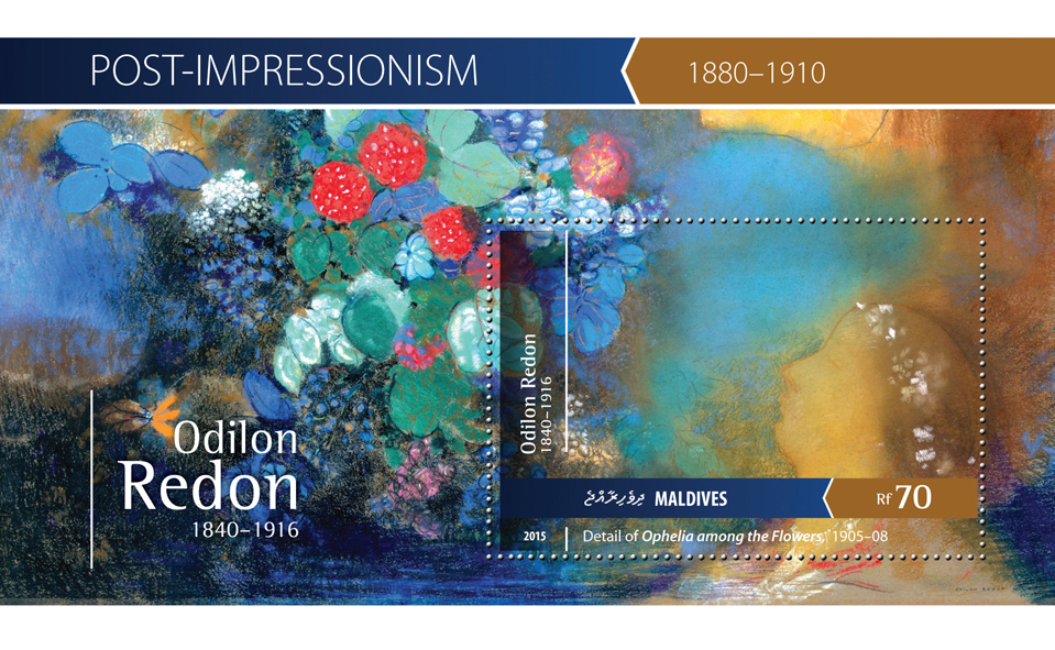 Odilon Redon - Issue of Maldives postage stamps