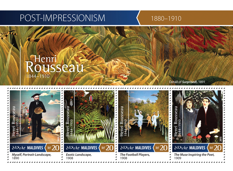 Henri Rousseau - Issue of Maldives postage stamps