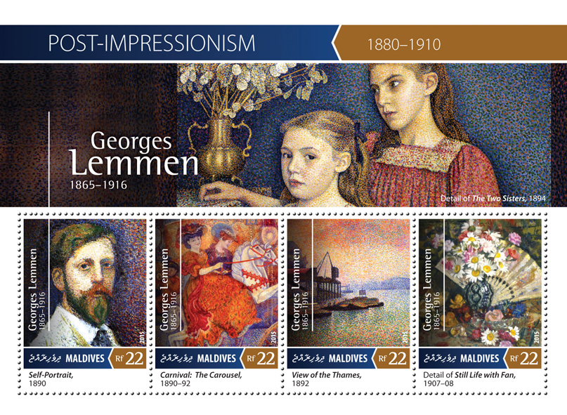Georges Lemmen - Issue of Maldives postage stamps