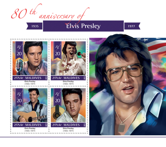 Elvis Presley - Issue of Maldives postage stamps