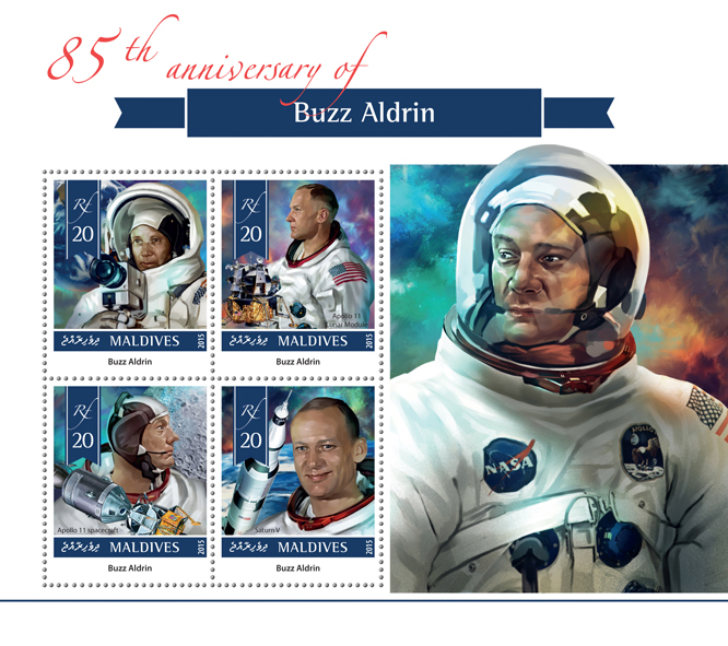 Buzz Aldrin - Issue of Maldives postage stamps