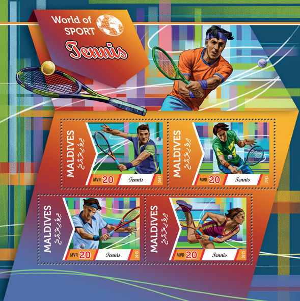 Tennis  - Issue of Maldives postage stamps