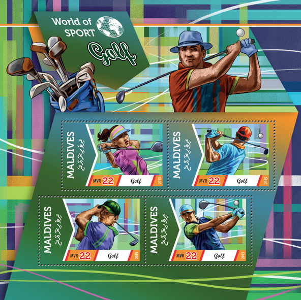 Golf  - Issue of Maldives postage stamps
