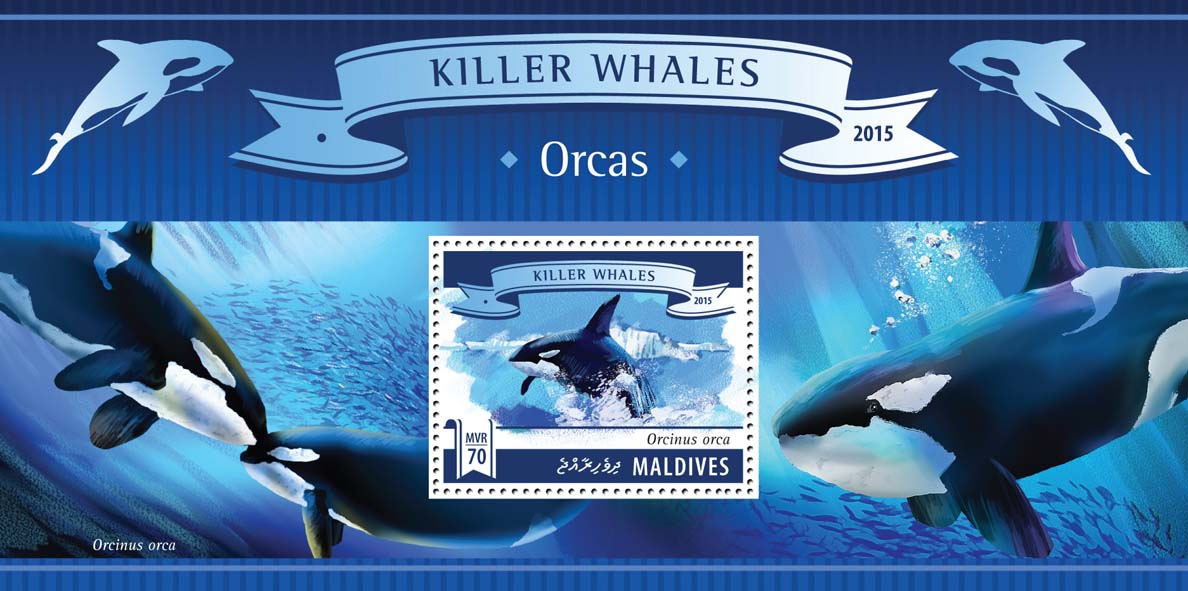 Orcas - Issue of Maldives postage stamps