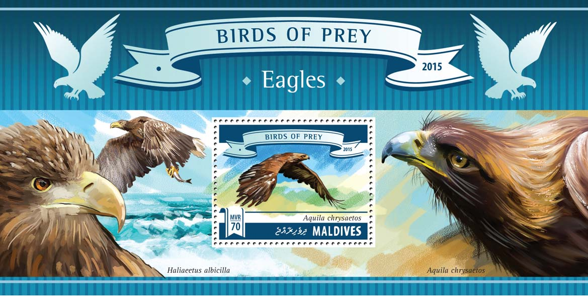 Eagles - Issue of Maldives postage stamps