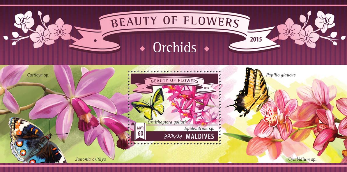 Orchids - Issue of Maldives postage stamps