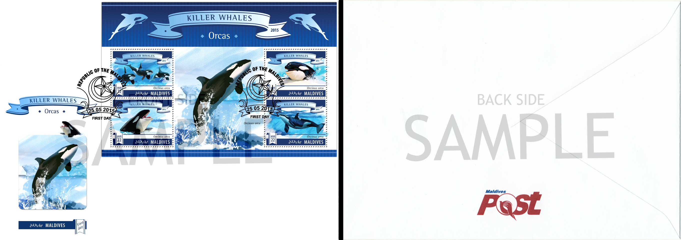Sample of FDC - Issue of Maldives postage stamps