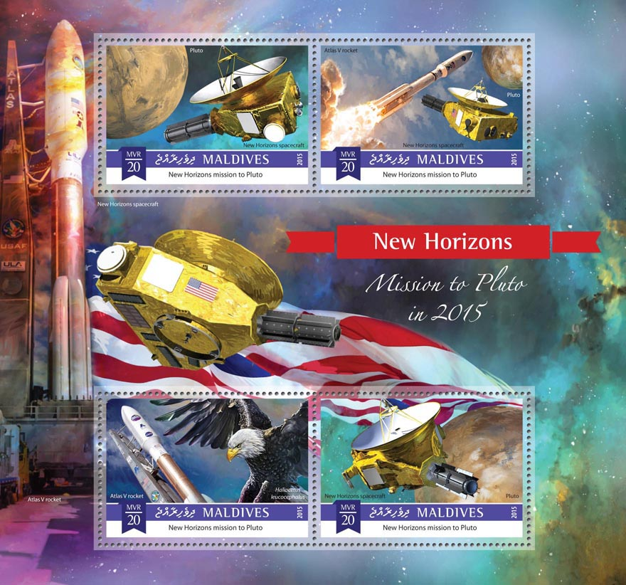 Space - Issue of Maldives postage stamps
