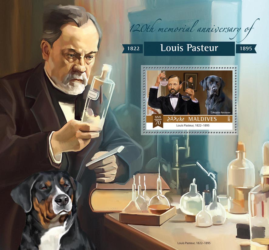 Louis Pasteur  - Issue of Maldives postage stamps