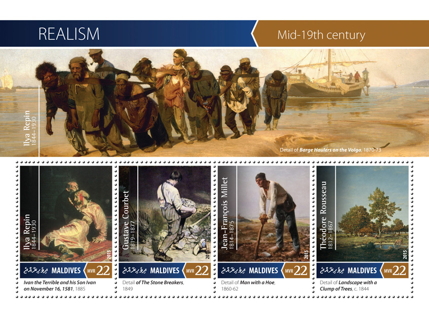 Realism - Issue of Maldives postage stamps