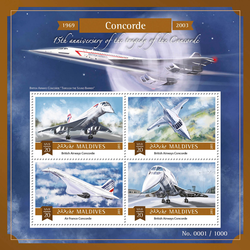 Concorde - Issue of Maldives postage stamps