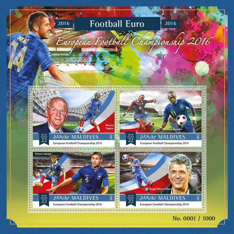Football - Issue of Maldives postage stamps