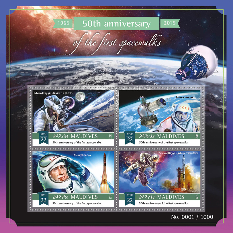 First space walks - Issue of Maldives postage stamps
