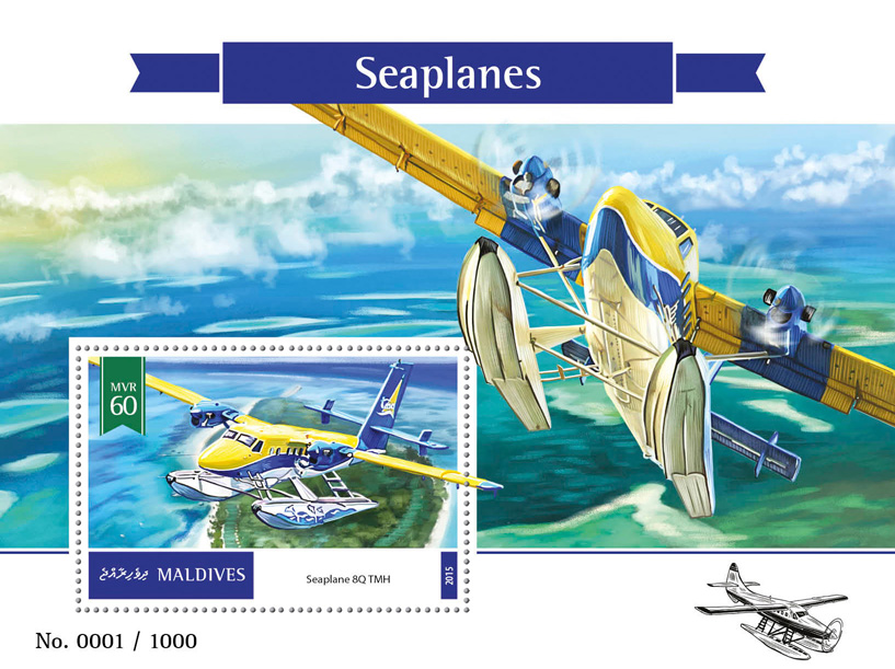 Seaplanes - Issue of Maldives postage stamps