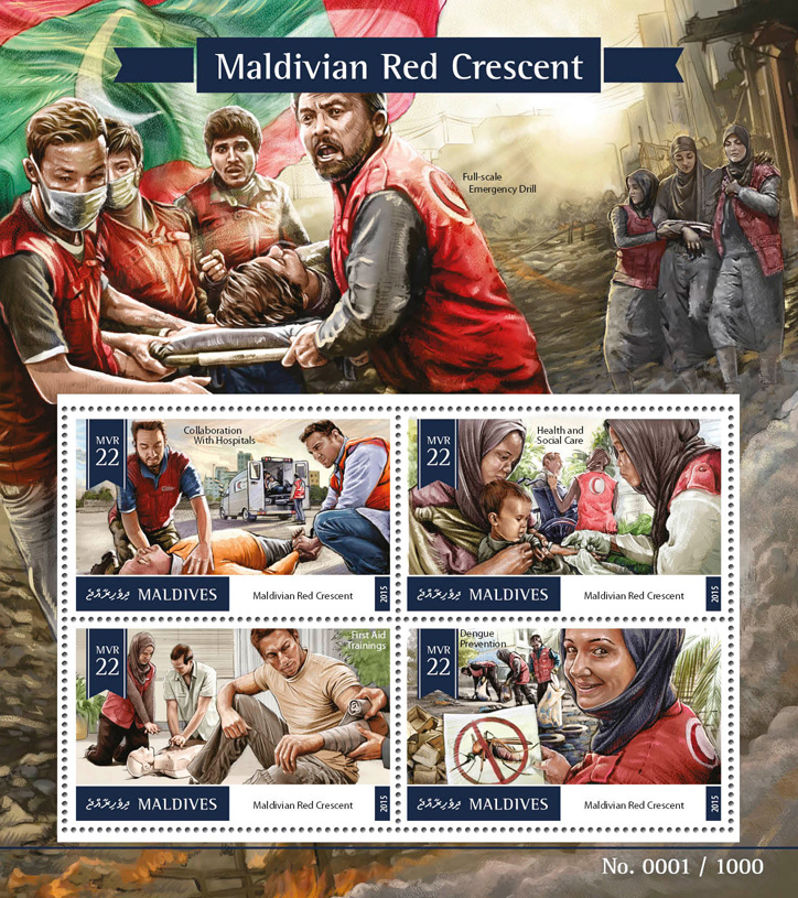 Maldivian Red Crescent - Issue of Maldives postage stamps