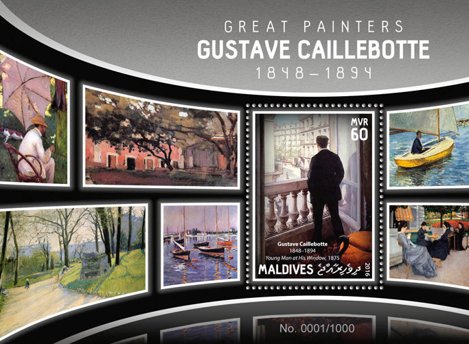 Gustave Caillebotte - Issue of Maldives postage stamps