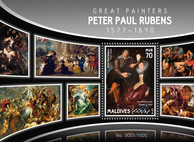 Peter Paul Rubens - Issue of Maldives postage stamps