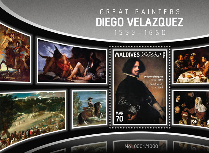 Diego Velazquez - Issue of Maldives postage stamps