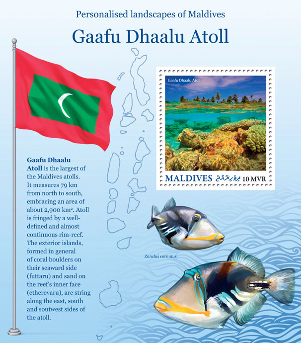 Gaafu Dhalu Atoll - Issue of Maldives postage stamps