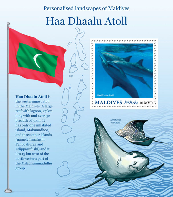 Haa Dhaalu Atoll - Issue of Maldives postage stamps