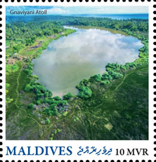 Gnaviyani Atoll - Issue of Maldives postage stamps