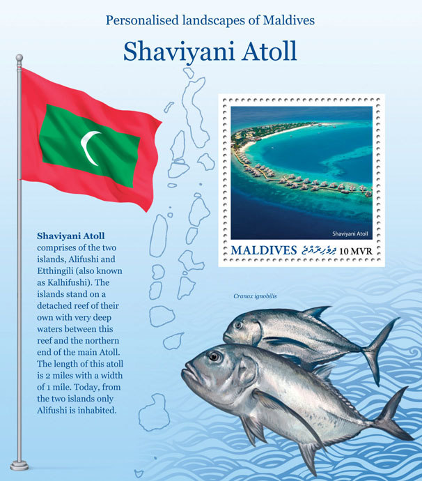 Shaviyani Atoll - Issue of Maldives postage stamps