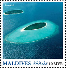 Raa Atoll - Issue of Maldives postage stamps