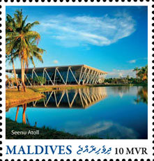 Seenu Atoll - Issue of Maldives postage stamps