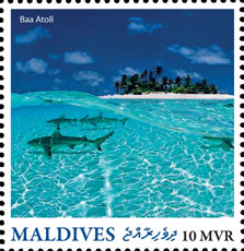 Baa Stoll - Issue of Maldives postage stamps