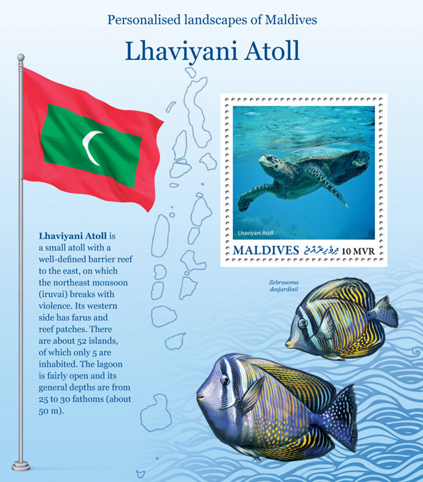 Lhaviyani Atoll - Issue of Maldives postage stamps